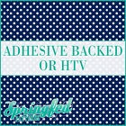 Navy & White Polka Dot Pattern Adhesive Craft Vinyl or HTV Heat Transfer