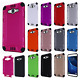 For Samsung Galaxy J7 Combat Brushed Metal HYBRID Rubber Hard Case +Screen Guard