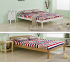 Double Bed Solid Pine Wood Bed Frame -oak or white