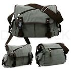 Messenger Bag School Shoulder Bag Men's Vintage Crossbody Satchel Canvas Leather