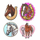 Horse Pattern Iron On Patches Embroidered Badge Applique Cute DIY Bags Handcraft