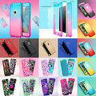 Hybrid 360 Shockproof Protective Hard Case With Tempered Glass For iPhone 5 6 7+