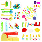 12x Mixed Plastic Plasticine Clay Dough Moulds Cutters Childrens Modelling Tools