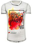 BOLF Herren T-Shirt Tee Print Slim Fit Kurzarm Party Classic MIX 3C3 Motiv
