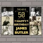 Personalised 18th 21st 30th 40th 50th Happy Birthday Poster Banner N127