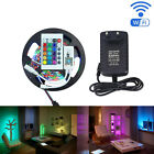 led rgb wifi controller - 5M RGB LED Strip SMD 2835 Non-Waterproof Smart Wifi Controller Phone App Control