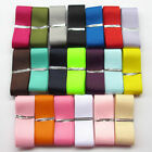 "20Y 1/4"" 3/8"" 5/8"" 1""  1 1/2"" Mix Solid Grosgrain Ribbon Bow Craft Gift Packing"