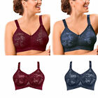 Naturana 86955 Non Wired Soft Cup Non Padded Full Coverage Lace Cup Bra