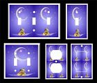 GOOD NIGHT TEDDY BEAR MOON AND STARS LIGHT SWITCH COVER PLATE
