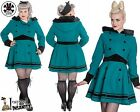 HELL BUNNY Mikaela ~ Vintage Rockabilly Fur Hooded Swing Coat ~ WinTer ReTro 50s
