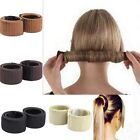Women Ladies Donut Bun Hair French Styling Twist Maker Former 1pcs Foam