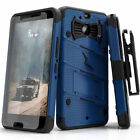For HTC BOLT Case Cover Tempered Glass Kickstand Holster Armor FLAGSHIP <br/> Military Drop-Tested✔Tempered Glass✔Holster✔Lanyard✔