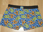 Men's Taz Character Looney Tunes Blue Fitted Boxer Trunks. BNWT S M L XL. (246)