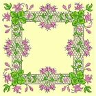 Anemone Quilt Squares 4-DESIGN 4-an Anemone Machine Embroidery single in 4 sizes