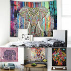 Indian Hippie Henna Mandala Tapestry Elephant Wall Hanging Bedspread Blanket Rug