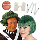 Oompa Loompa Factory Worker Book Week Outfit 70s 80s Fancy Dress Accessory Set