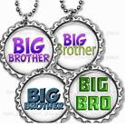 """Big Brother Children's Bottle Cap Necklace 24"""" Chain New Baby Family Jewelry"""