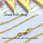 """gold filled Figero chain 16""""ins 18""""ins 20""""ins 22""""ins 24""""ins 26""""ins 28""""ins 30""""ins"""