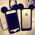 3D Cute Cartoon Mouse Ear Soft Silicone Bumper Frame Case Cover For Apple iPhone
