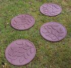 Stepping Stone Garden Path Leaf Design Recycled Rubber Ornament New