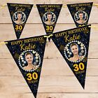 Personalised 18th 21st 30th 40th 50th Happy Birthday Flag Banner Bunting N75