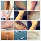 New Jewelry fashion Alloy Cute Infinity Charm Bracelet Silver Gold Style Pick