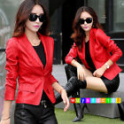2017 New spring jacket women's leather suit leather V collar jacket