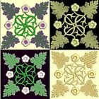 Anemone Quilt Squares 6-DESIGN 7-an Anemone Machine Embroidery single in 4 sizes