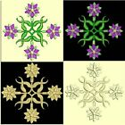 Anemone Quilt Squares 1-DESIGN 8-an Anemone Machine Embroidery single in 4 sizes