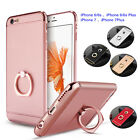 Ultra Thin Protective Matte Hard Cover Case With Metal Ring Kickstand For iPone