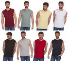 Mens / Adults Plain Cargo Bay Cotton Sleeveless Sports Gym Vest Top / T-shirt
