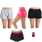 Women's Athletic Sweat Shorts Casual Lounge Sports Gym Walking Yoga Cotton S M L