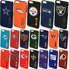 Case For iPhone 7 & 7 PLUS Fan Cover Official NFL Hybrid Armor + Tempered Glass