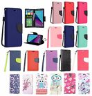 SAMSUNG GALAXY J3 EMERGE 2017 PU LEATHER WALLET POUCH CASE FOLIO COVER+STYLUS