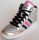 WOMENS ADIDAS ORIGINALS HARD COURT HI W SILVER TRAINERS, SHOES