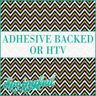 Flat Gold, Black & White Chevron Pattern #4 Adhesive Vinyl or HTV Crafts Shirts
