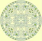 CELTIC QUILT CIRCLE SINGLES -Design 10- from Anemone Machine Embroidery-4 SIZES