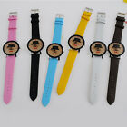 Women Girl Lady Fashion Quartz Moustache Watch Casual Artificial Leather Belt