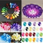 "100pcs 10"" inch Colorful Pearl Latex Balloon Celebration Party Wedding Birthday"