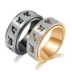 Stainless Steel Jewelry Religious Rotate Ring