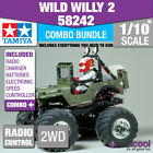 COMBO DEAL! 58242 TAMIYA WILD WILLY 2 WR-02 1/10th R/C KIT RADIO CONTROL 1/10