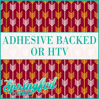 Garnet, Gold & White Arrows Pattern #1 Adhesive Vinyl or HTV for Crafts Shirts