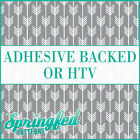 Grey & White Arrows Pattern #1 Adhesive Vinyl or HTV for Crafts Shirts