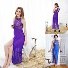 Skirts Sleepwear Underwear Long Dresses Split skirt Blue Lace Dress Elegant AB