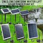 Solar Power Fountain Water Pump Kit Outdoor Garden Pond Pool Submersible