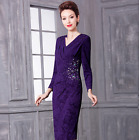 Women's high-end V-neck wedding banquet dress formal cocktail party evening dres