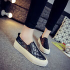 Women's Fashion Sneakers Loafers Slip On Casual Sport Leather Comfort Shoes Size