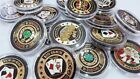 Poker Card-Guard Protector Shiny Gold Brass Coin - Available in Various Designs