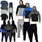 Mens Full Zip Hooded Tracksuit Fleece two-toned Stylish Size S M L XL