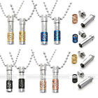 """2X Fashion Stainless Steel Pendant Carved """"only love"""" Chai Chain Necklace Gift"""